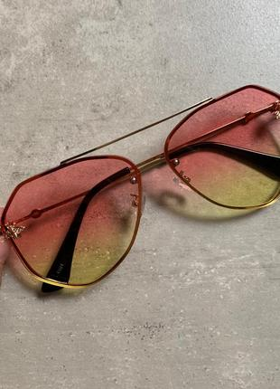 Очки солнцезащитные авиатор гуччи окуляри gucci