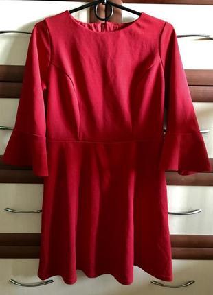 🚣🏽♀️ярко красное платье мини трикотажное new look 10рр
