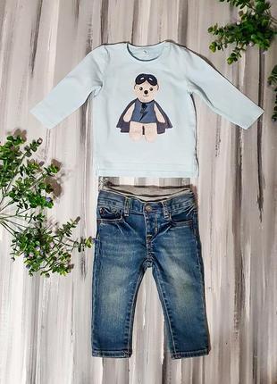 Baby gap джинсы + кофта 6-12мес