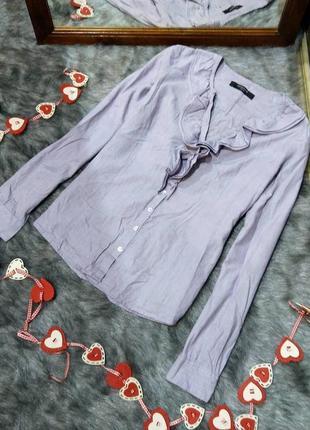 Блуза кофточка из коттона с рюшей на лифе reserved