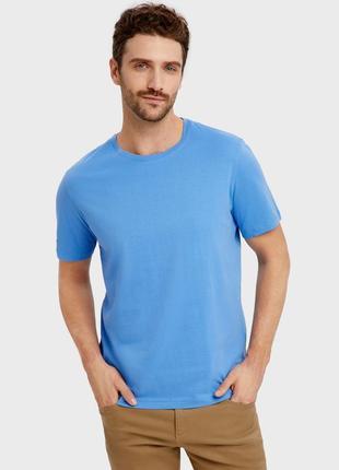 Мужская футболка ostin супер качество голубая