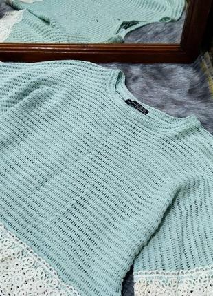 Стильная ажурная блуза топ кофточка atmosphere2 фото