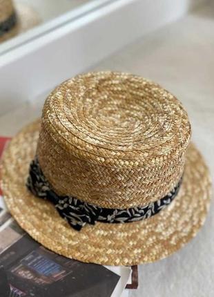 Шляпа соломенная пляжная модная