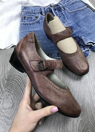 Качественные туфли из натуральной кожи waldlaufer