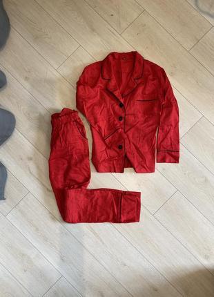 Пижама красная хб