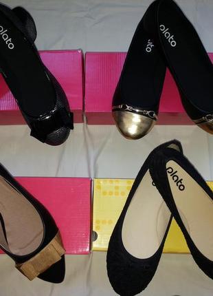 Черные балетки лодочки от plato 38-го 39-го размера ( 24,5 см. по стельке ). распродажа.7 фото