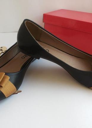 Черные балетки лодочки от plato 38-го 39-го размера ( 24,5 см. по стельке ). распродажа.5 фото