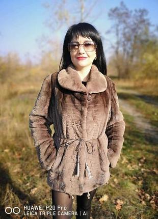 Saga furs  норковая шуба р. 44-46 (м)