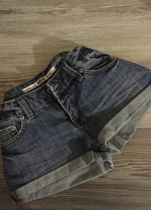 Джинсовые шорты синие xs s motor jeans
