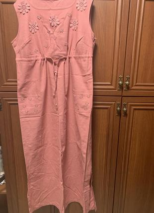 Платье 100% лён