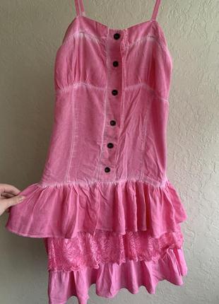 Летнее, детское платье с ремешком