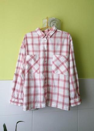 Рубашка в клетку от indigo marks&spencer