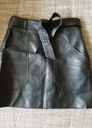 Кожаная юбка stradivarius