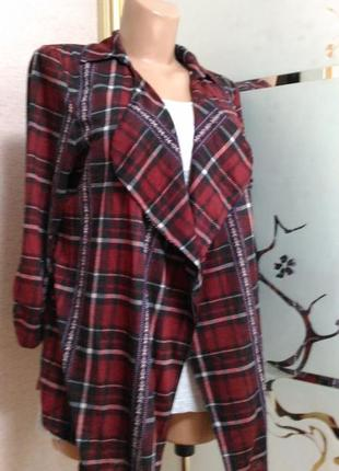 Легкий пиджак без застежки)пог 48 от no boundaries