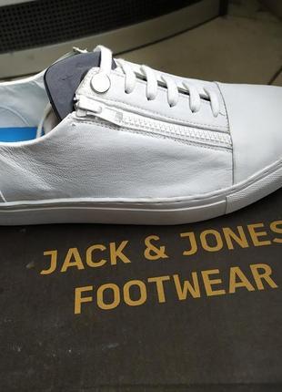 Кожаные кроссовки / мокасины / сникерсы  jack & jones2 фото