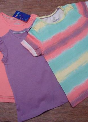 Красивый стильный набор футболок lupilu 1-2 года