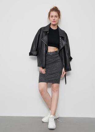 Трикотажная юбка с поясом новая коллекция р.s/m reserved