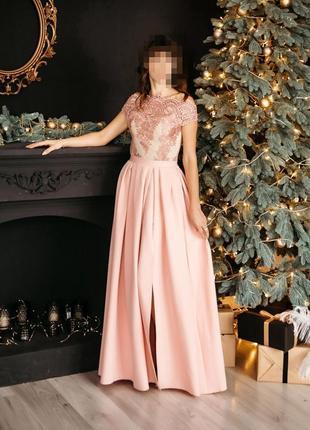 Шикарное нарядное, вечерее длинное платье, сукня макси, выпускное, плаття