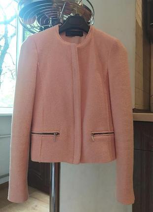 Zara пиджак в стиле шанель, жакет, блейзер, ветровка, курточка, куртка