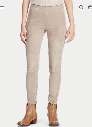 Кожаные штаны скинни polo ralph lauren