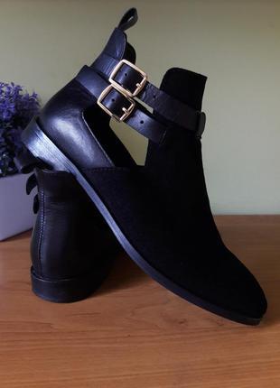Кожанные ботинки kiomi