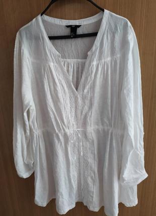 Натуральная блуза .батал