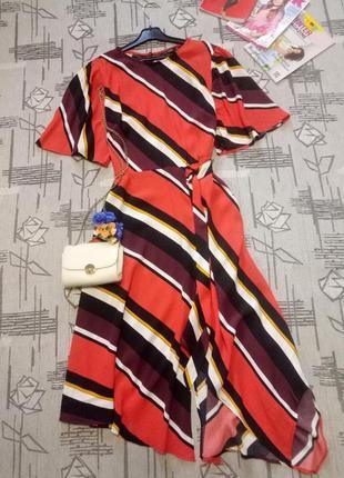 Стильное яркое платье миди! f&f, размер 12-14