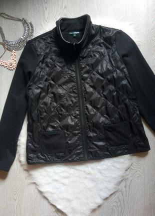 Черная короткая флисовая куртка кофта флиска с плащевкой спереди на молнии батал большой
