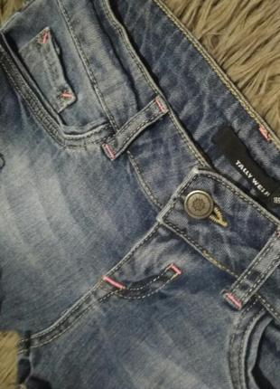 Короткие джинсовые шорты с рваностями tally weijl