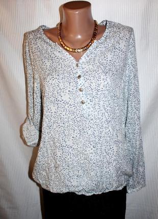 Блузка рубашка свитшот тонкая вискоза рукав регулировка flame 44-48р