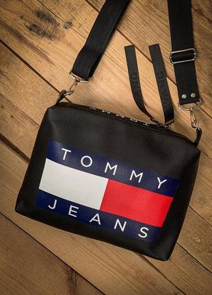Новинка / шикарная новая сумка tommy pu кожа / клатч / кроссбоди