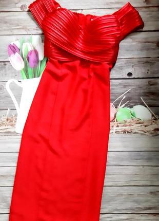 Стильное вечернее силуэтное платье миди