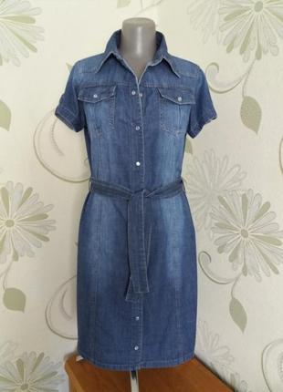 Платье джинсовое летнее с коротким рукавом urban behavior