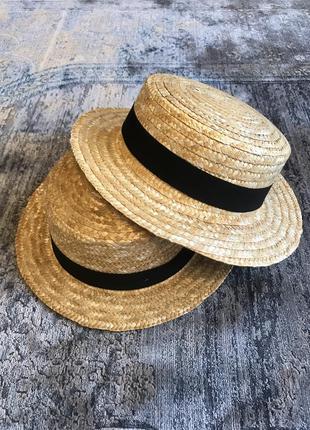 Соломенное канотье шляпа