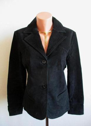 100% кожа замшевый пиджак-куртка из натуральной замши authentic