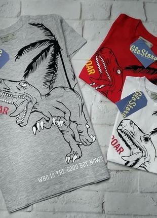 Футболка динозавр glo-story 100% коттон