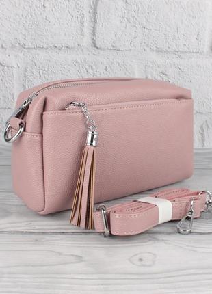 Небольшой клатч, сумочка через плечо valensiy 20717-4 сиреневая