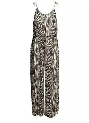 Шикарный пляжный брючный ромпер в animal print ♥ h&m 38/40