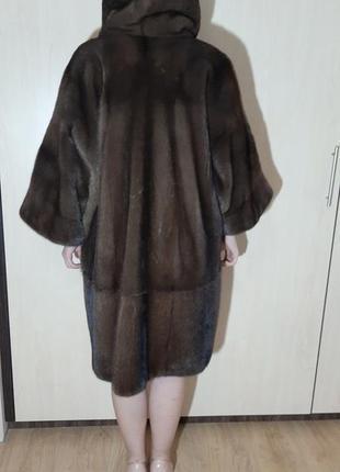 Новая норковая шуба италия кимоно