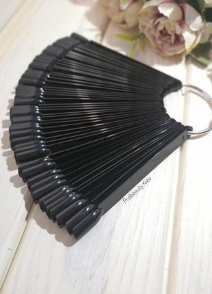 Типсы на кольце 50 шт дисплей веер палитра для демонстрации лаков probeauty