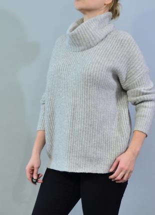 4312\80 мягкий серый свитер с хомутом tu l