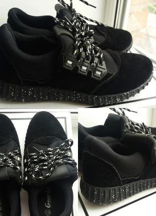 Кроссовки женские чёрные