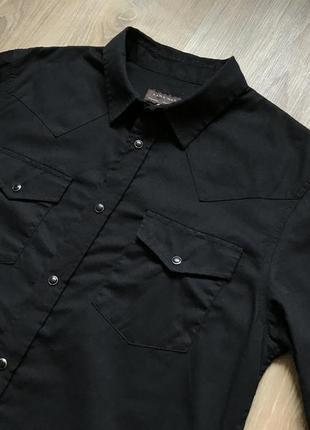 Мужская черная рубашка с длинным рукавом zara s3 фото