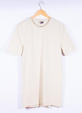 Платье-футболка бежевое