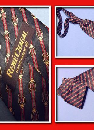 Галстук rene chagal женский  шелковый, креативный аксессуар, украшение на шею стиль