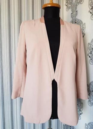 Топовый базовый пиджак жакет блейзер пудрового цвета h&m
