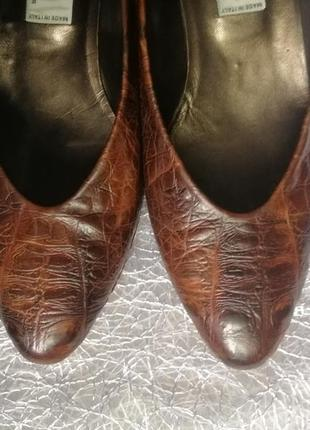 Кожаные туфли, винтаж, италия.