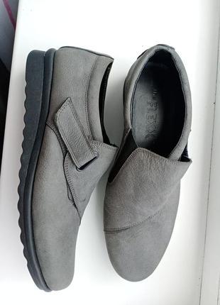 Мега комфортные туфли мокасины the flexx кожа