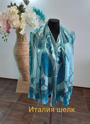 Новый шарф италия шелк ручная работа шов роуль