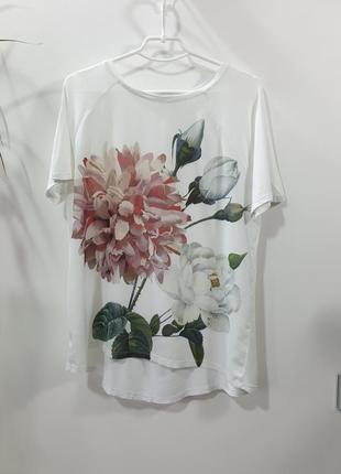 Футболка с цветочным принтом wear on collection